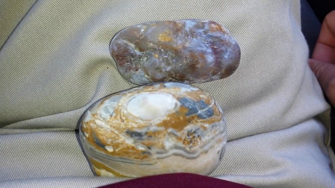 Agate Finds at the Beach in Northern California