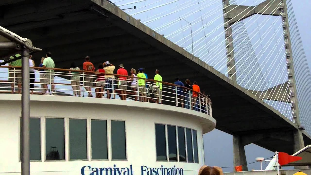 Our Cruise Ship Going Under Dames Point Bridge Jacksonville FL - Cruises out of jacksonville florida