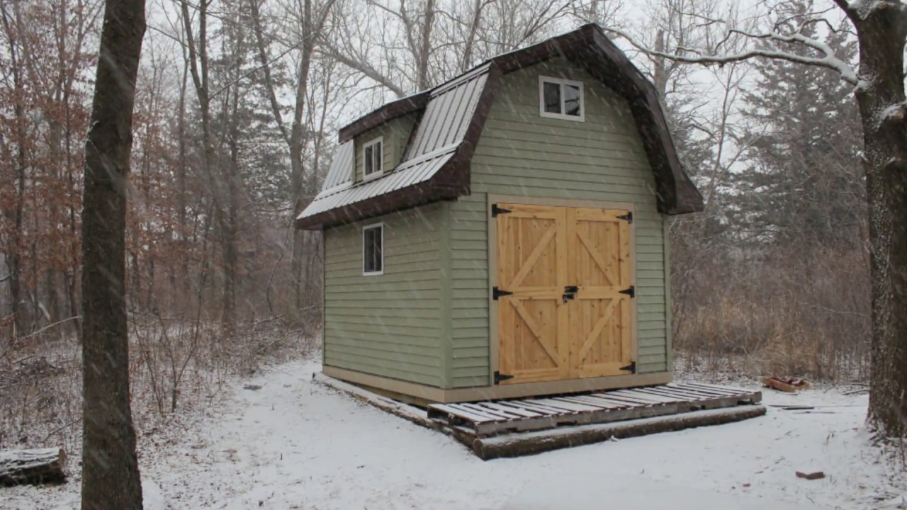 Gambrel Shed Construction Youtube