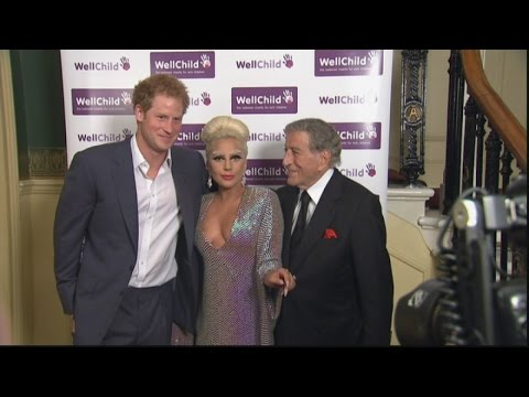 Thumbnail: Prince Harry meets Lady Gaga and Tony Bennett
