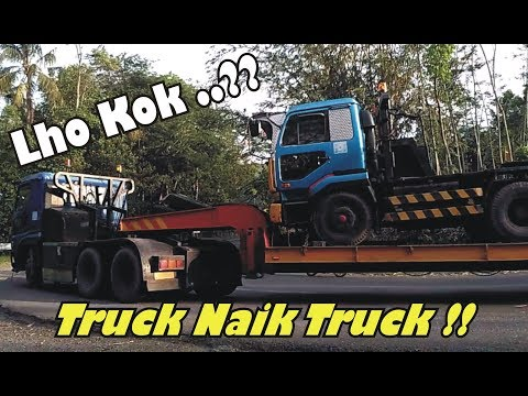 Lho Kok TRUCK Naik Truk ?? lihat skil sopir truk Gandeng, Trailer & Tronton b3Rm4nuv3r