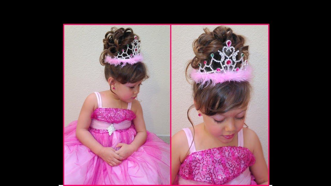 Peinado De Princesa Princess Hairstyle Peinado Para Nina