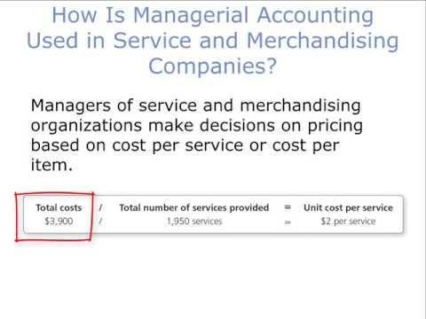 Calculate Cost Per Service For A Service Co.