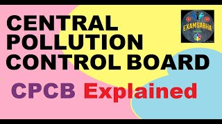 Central pollution control board CPCB what is cpcb in hindi Cpcb explained