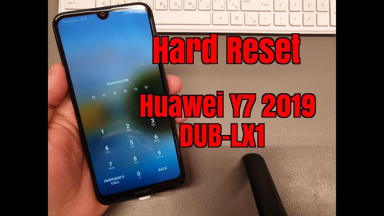 Hard reset Huawei Y7 2019 DUB-LX1  Unlock pin,pattern,password lock