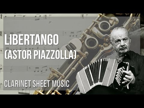 EASY Clarinet Sheet Music: How to play Libertango by Astor Piazzolla