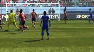 PES 2013 PC ( bruno beckham)  Gol De falta Neymar !!!!!