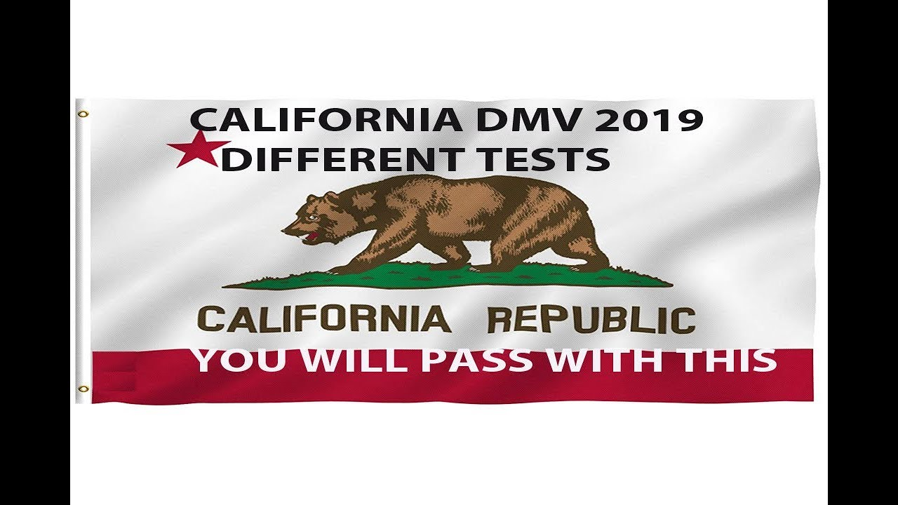 California DMV written Test 2019 Different Tests