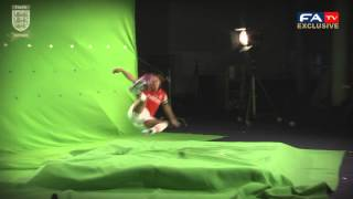 Alex Scott volley at Wembley, FAWSL titles shoot | FATV
