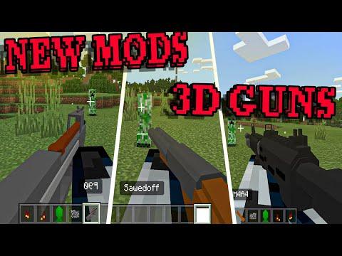(MCBE) NEW MOD 3D GUNS НОВЫЙ БОЛЬШОЙ МОД НА 3Д ОРУЖИЕ С РЕАЛИСТИЧНОЙ АНИМАЦИЕЙ ДЛЯ МАЙНКРАФТ БЕДРОК