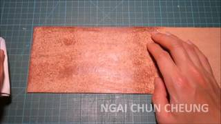 Leather Beeswax Finishing