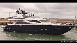 Georgina super Yacht arrival & departure at Rome Fiumicino port