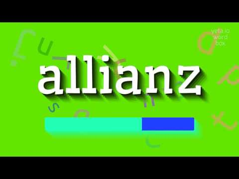 """How to say """"allianz""""! (High Quality Voices)"""