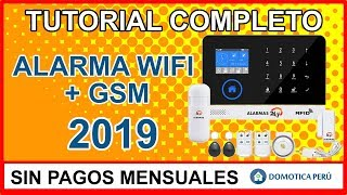TUTORIAL COMPLETO: APRENDE COMO CONFIGURAR TU ALARMA WIFI GSM