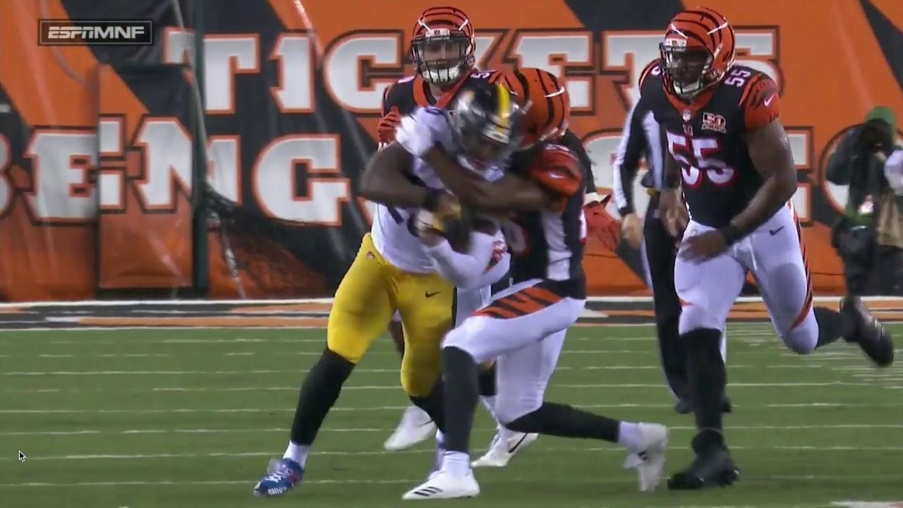 Le Veon Bell trucks Dre Kirkpatrick Steelers vs Bengals Week 13