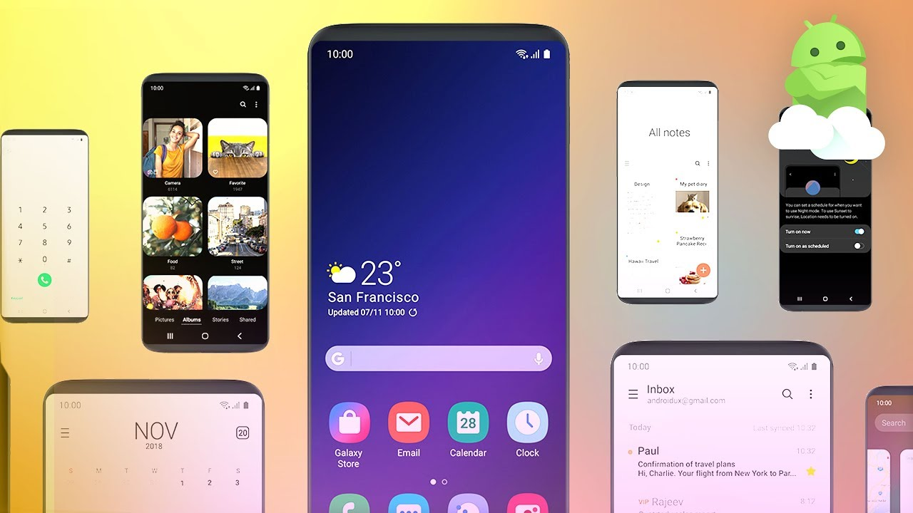 Samsung One UI Impressions: Galaxy S9 Android 9 Pie Hands-on