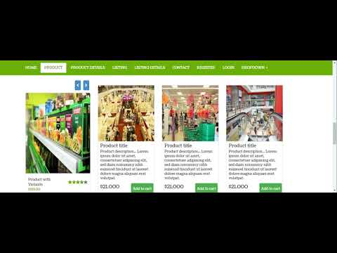 Responsive Shopping Website Template Mega Store E Cart Online