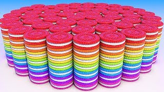 Learn Colors with 3D Spiral Cookies for Kids and Children