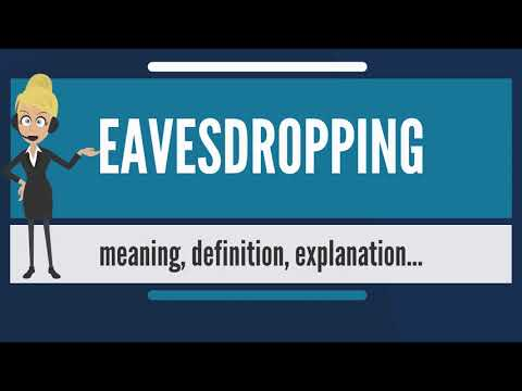 What is EAVESDROPPING? What does EAVESDROPPING mean? EAVESDROPPING meaning & explanation