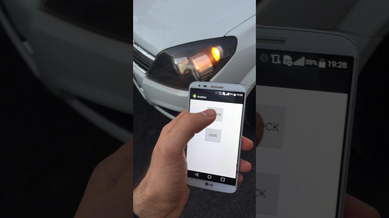 Opel Astra H Remote Door Locking via Smartphone - YouTube