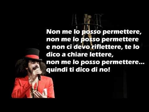 CAPAREZZA- NON ME LO POSSO PERMETTERE TESTO (lyrics)