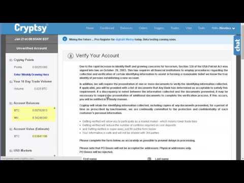 Cryptsy-Биржа и Майнинг 2 в 1 ,Регистрация,Вывод-Ввод.Покупка мощностей