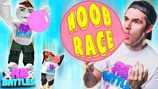 WIN THIS BUBBLE GUM SIMULATOR RACE AND GET THE LOSERS BEST PET! (Roblox Battles)