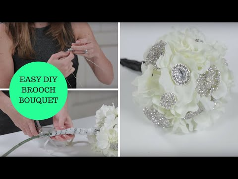Easy Diy Brooch Bouquet How