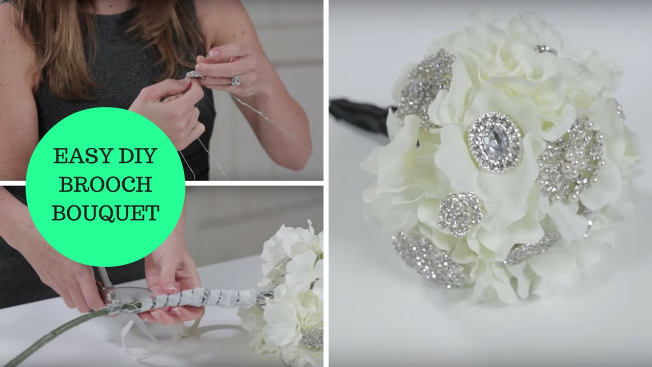 Easy DIY Brooch Bouquet a How-To Wedding Project - YouTube