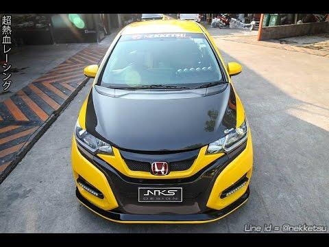 ชุดแต่งรถ Honda Jazz GK ทรง Type R 2017 จาก Nekketsu Racing.