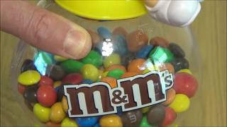 M&m's Sun Loving Yellow Coin Bank Chocolate Candy Dispenser Toy