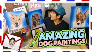 Realistic Dog Paintings! (Teehee Time)