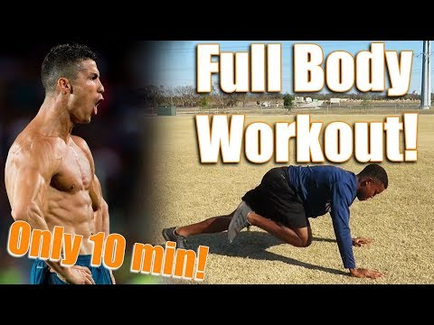 10 min Full Body Workout for Soccer/Football players! | No equipment needed