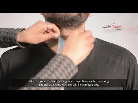 How to measure neck size for men's wear | Tutorial by Indian Wedding Saree