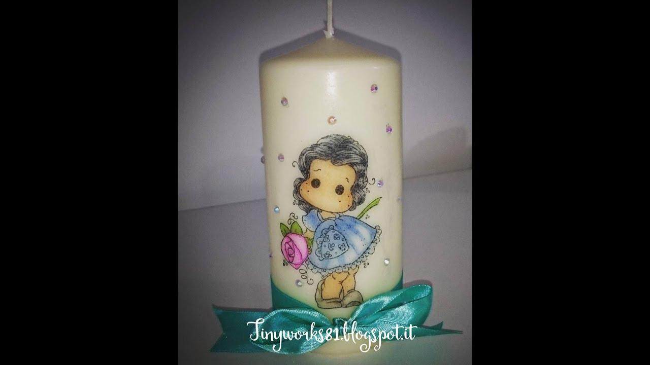 Tutorial decorare una candela con i timbri magnolia youtube for Decorare candele