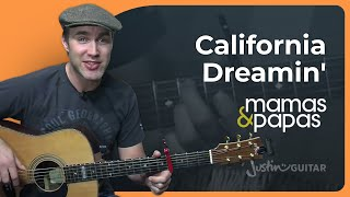 California Dreamin - The Mamas & The Papas (Easy Songs Beginner Guitar Lesson BS-704) How to play