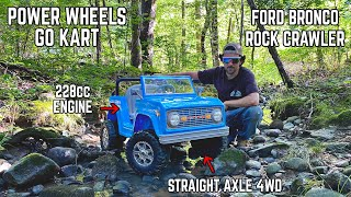 4x4 Power Wheels Ford Bronco Go Kart Build!