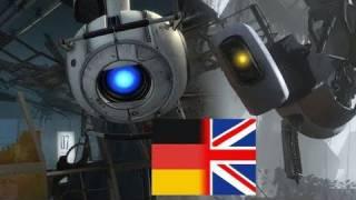 Portal 2 - Sprachvergleich: GLaDOS und Wheatley auf deutsch und englisch