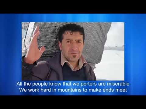 Kurdistan porters in Iran