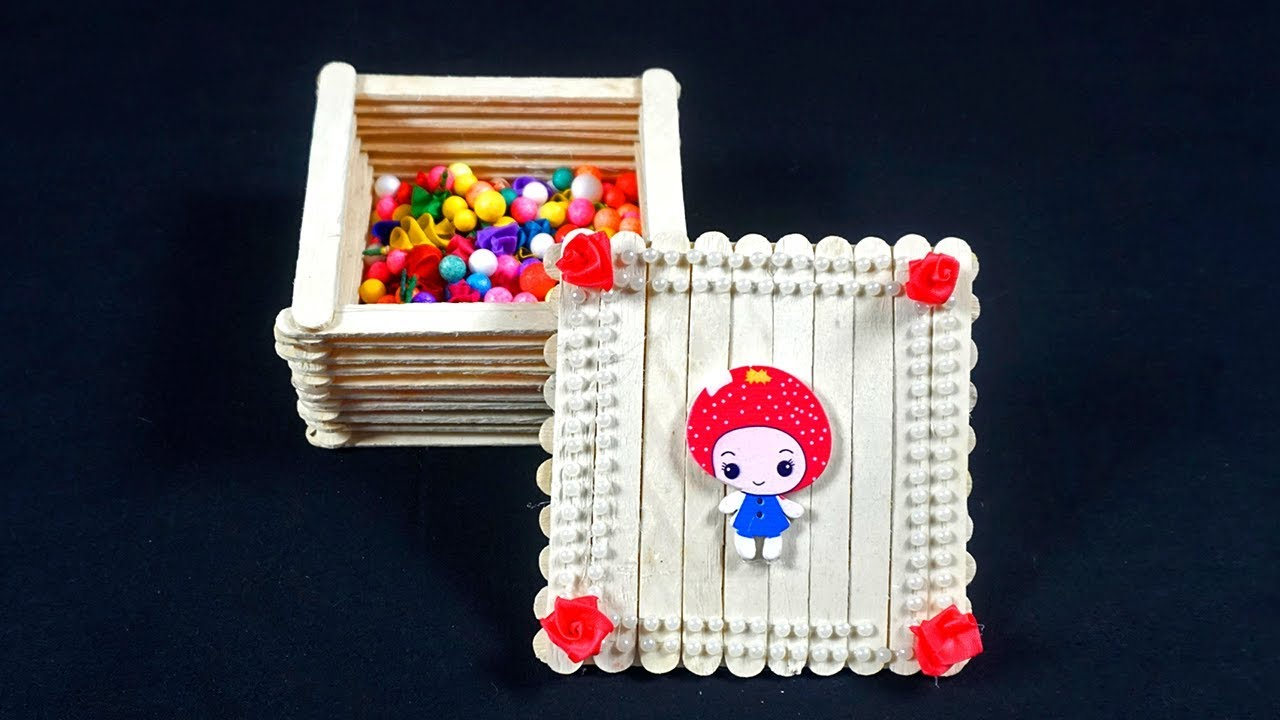 Simple Popsicle Stick Box Ice Cream Stick Box Decorative