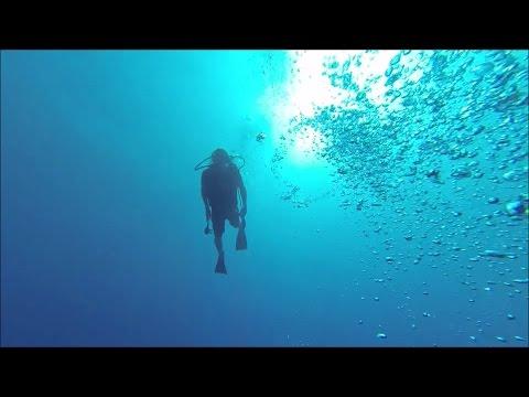 100 Feet dive. Scuba diving  Jamaica Montego bay.