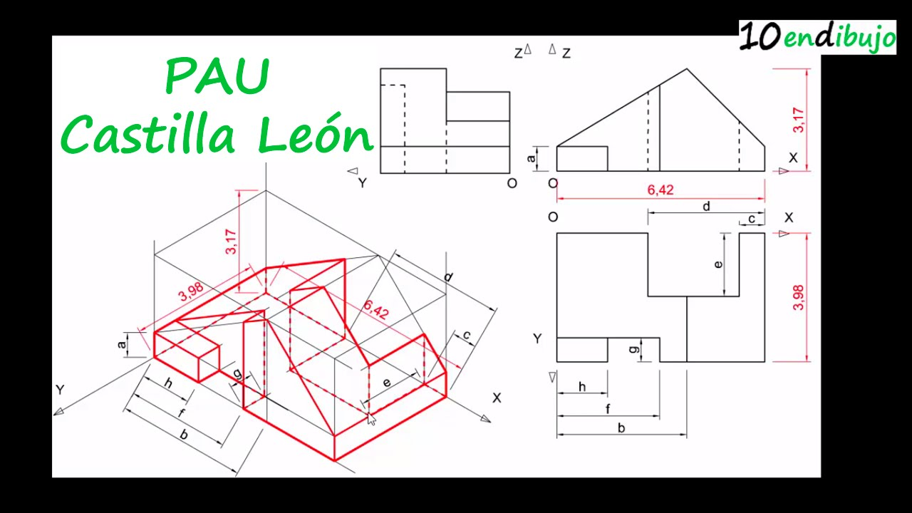 Examen de dibujo t cnico de las pau de castilla y le n for Plano de planta dibujo tecnico