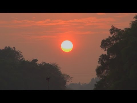 Sunset view on the Pamba River