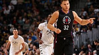 Blake griffin alley-oop three pointer!