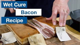 🔵 How To Make Measured Wet Cure / Bag Cure Bacon || Glen & Friends Cooking