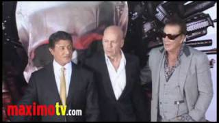 "Sylvester Stallone, Bruce Willis, Mickey Rourke at ""The Expendables"" Premiere"