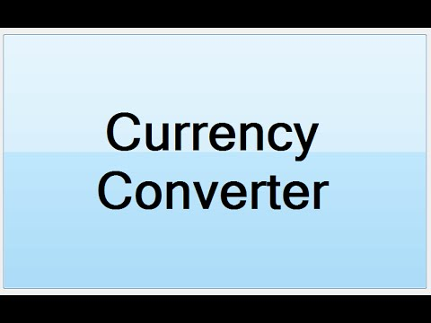 How to Create Currency Converter Systems in Visual Basic.Net