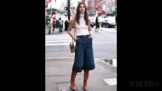 видео брюки кюлоты с чем носить