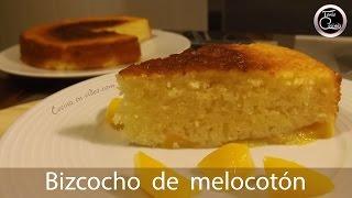 Bizcocho jugoso de melocotón, fácil y rápido - Peach cake - 251 - #CocinaEnVideo