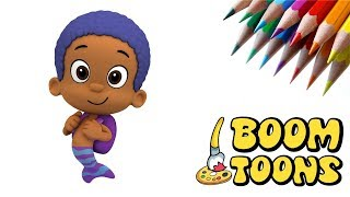 How to DRAW GOBY from BUBBLE GUPPIES - Fun Sketch with BOOM TOONS